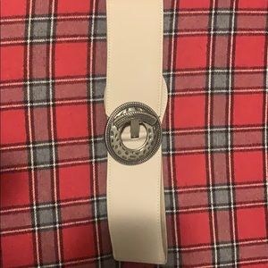 SMALL beige belt with buckle